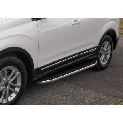 """Пороги на авто """"Premium"""" RIVAL для Chery Tiggo 5 2014-2020, 173 см, 2 шт., A173ALP.0902.1"""