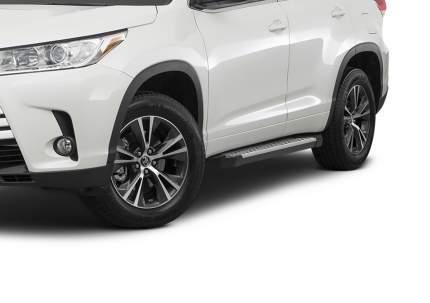 Пороги алюминиевые Bmw-Style круги Rival Toyota Highlander III 14-, 180 см, D180AL.5706.1