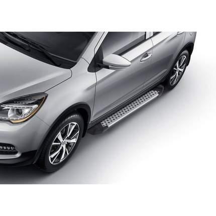 "Пороги на авто ""Bmw-Style круг"" RIVAL для Lifan X50 2015-н.в. 173 см, 2 шт. D173AL.3303.1"