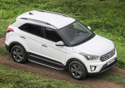 """Пороги на автомобиль """"Premium"""" Rival для Hyundai Creta I 2016-2021, 173 см, A173ALP.2310.1"""