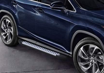 "Пороги на авто ""Bmw-Style круг"" RIVAL для Lexus RX IV 2015- 180 см, 2 шт. D180AL.3203.1"