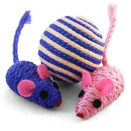 Набор игрушек для кошек Triol (мяч, 2 мышки)