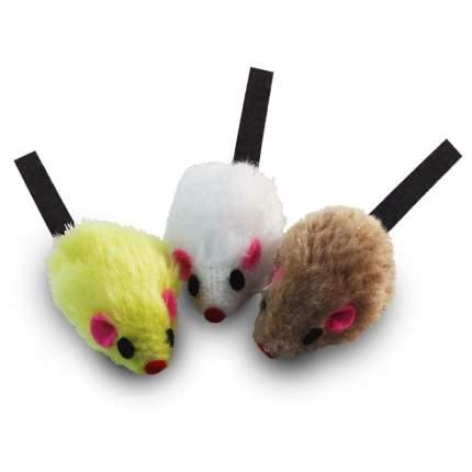 Набор игрушек для кошек Triol (3 мышки), 5 см