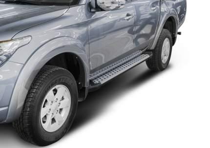 Пороги алюминиевые Bmw-Style круги Rival Mitsubishi L200 IV, V 06-, 193 см, D193AL.4003.1