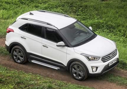 """Пороги на автомобиль """"Bmw-Style круг"""" Rival для Hyundai Creta 2016-н.в., D173AL.2310.1"""