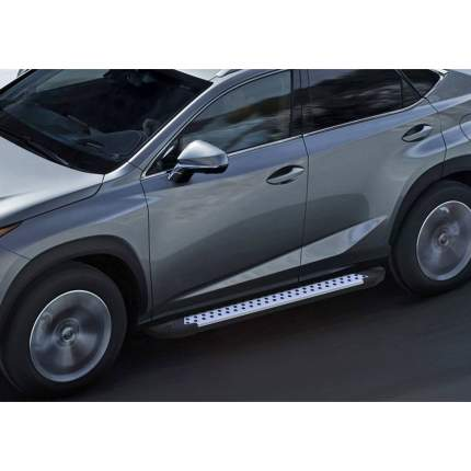 """Пороги на авто """"Bmw-Style круг"""" RIVAL для Lexus NX 2014-2017, 173 см, 2 шт., D173AL.3202.1"""