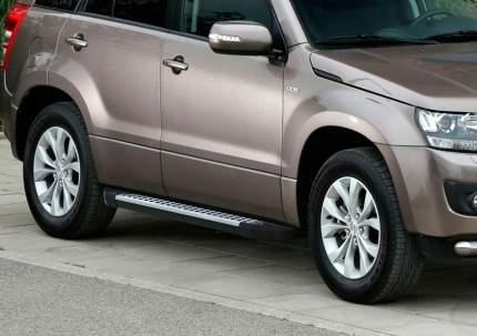 Пороги алюминиевые Bmw-Style круги Rival Suzuki Grand Vitara 5-дв. 05-16, D173AL.5502.2