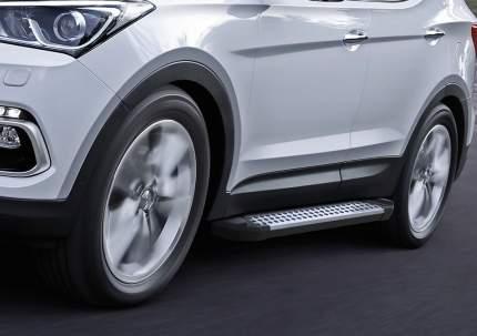 Пороги алюминиевые Bmw-Style Rival Hyundai Santa Fe III 12-18/Premium 15-16, D180AL.2305.2