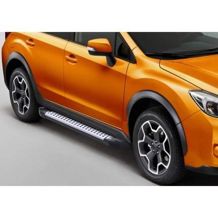 "Пороги алюминиевые ""Bmw-Style круги"" Rival Subaru XV I 2011-2016, 173 см, D173AL.5402.1"