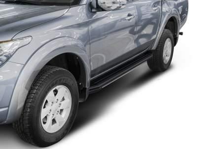 Пороги алюминиевые Premium-Black Rival Mitsubishi L200 IV, V 2006-, 193 см, A193ALB.4003.1