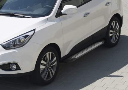 Пороги на авто RIVAL BMW-Style круг Hyundai ix35 10-15/Kia Sportage 10-16 D173AL.2303.2