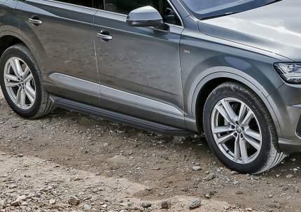 "Пороги алюминиевые ""Premium-Black"" Rival Audi Q7 II 2015-н.в., 193 см, A193ALB.0304.1"