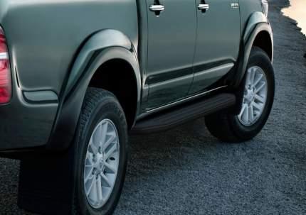 Пороги алюминиевые Premium-Black Rival Toyota Hilux VII 2005-2015, 193 см, A193ALB.5703.1