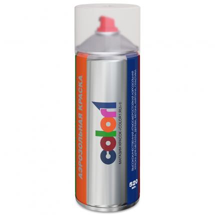 Аэрозольная краска COLOR1 LD7XSKODAaer цвет LD7X - PLATINUM GRAY, PLATINUM GRAU