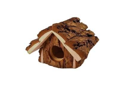 Домик для мелких грызунов Homepet Избушка, деревянный, 16x12x10,5 см