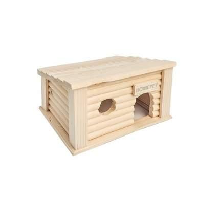 Домик для мелких грызунов Homepet Южный, деревянный, 18x13x11 см