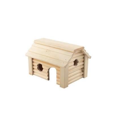Домик для грызунов Homepet Баня, деревянный, 15x20x12,3 см