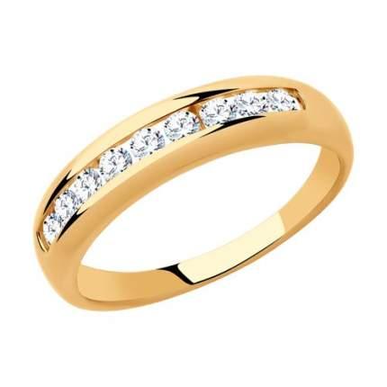 Кольцо женское SOKOLOV из золота с фианитами 018319 р.16