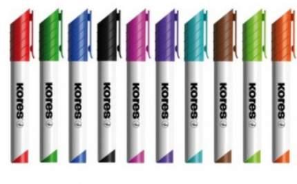 """Набор маркеров для досок """" Kores"""", 10 штук, 3 мм"""