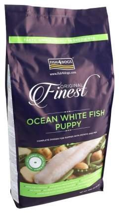 Сухой корм для щенков  Fish4Dogs Finest Ocean Puppy, для мелких пород, белая рыба, 12кг