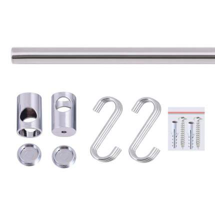 Набор: рейлинг с креплением и крючками 58х1,6 см