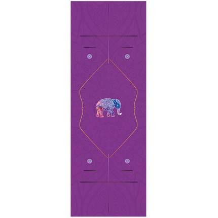 Коврик для йоги Atlanterra AT-YM-06 фиолетовый 2 мм