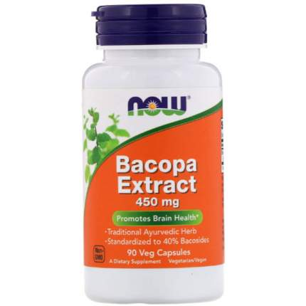 NOW Bacopa Extract 450 мг 90 капсул