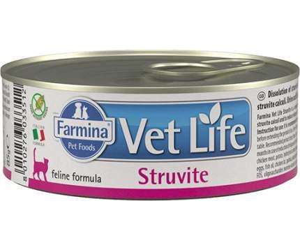 Консервы для кошек Farmina Vet Life Vet Life Struvite при МКБ со струвитами, 12шт по 85г