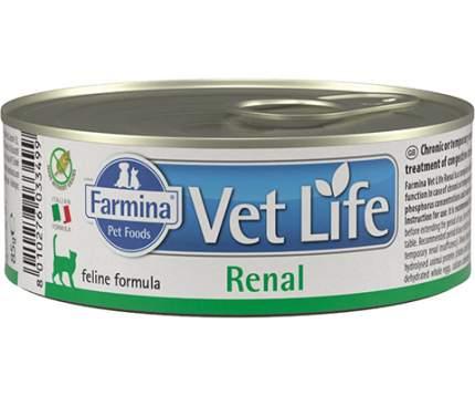 Консервы для кошек Farmina Vet Life FELINE Renal, при болезнях почек, курица, 12шт по 85г