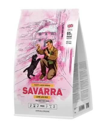 Сухой корм для щенков Savarra Puppy Large Breed, для крупных пород, ягненок и рис, 12кг