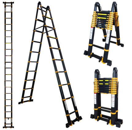 Лестница-трансформер телескопическая Raybe RM820 8,2 м