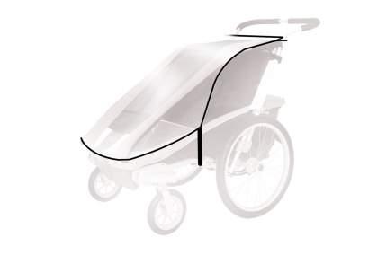 Дождевик THULE на детскую коляску Chariot Cougar-1/CX-1