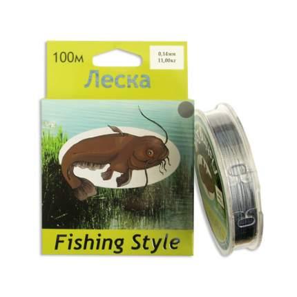 Леска плетеная Fishing Style RL2902 0,14 мм, 100 м, 11 кг серая