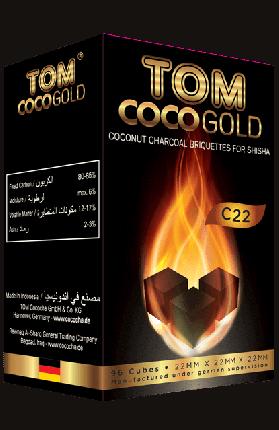 Кокосовый уголь для кальяна Tom Coco Gold C22 1 кг