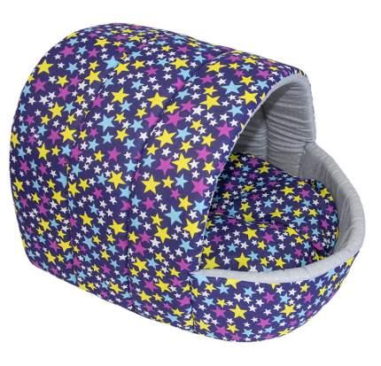 Домик для кошек и собак Великий Кот Звездочки, фиолетовый, 41x36x30см