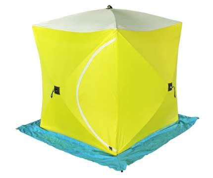 Палатка для рыбалки Стэк Куб трехместная желтая