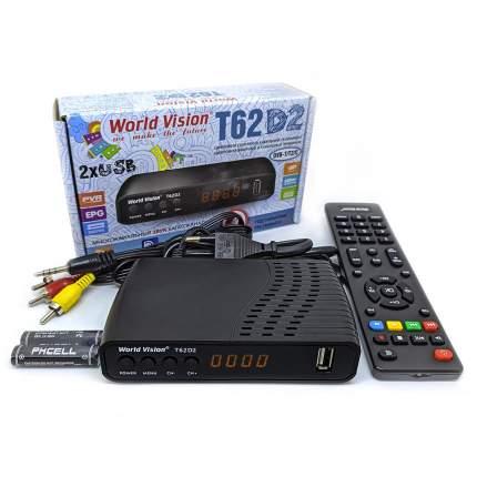 Приемник телевизионный DVB-T2 World Vision T62D2