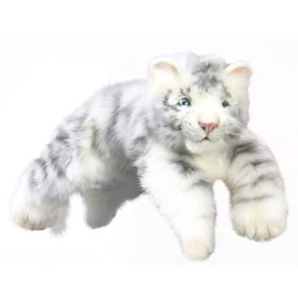 Мягкая игрушка Hansa Детеныш белого тигра лежащий, 54 см