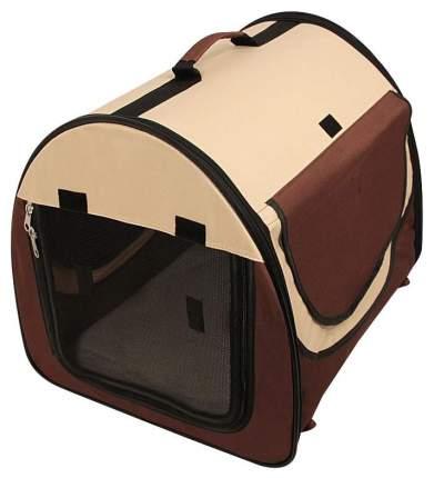 Домик для кошек и собак Triol Дом-тент овальный S, бежевый, коричневый, 48x41x41см