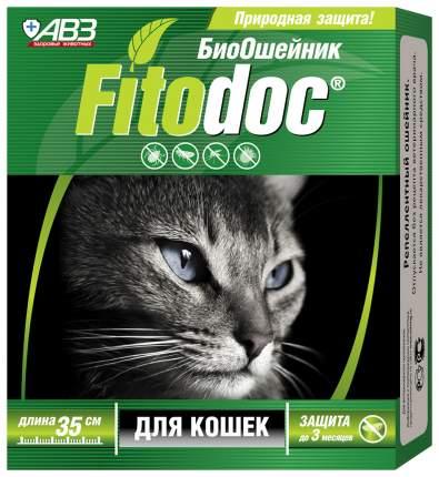 Ошейник для кошек против блох, власоедов, вшей, клещей АВЗ Fitodoc зеленый, 35 см