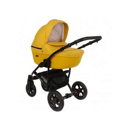 Детская коляска 2 в 1 Pituso Confort желтый + кожа шафрановый, рама черная