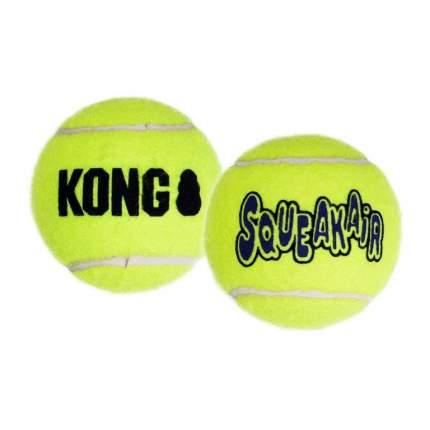 Апорт для собак KONG Air Теннисный мяч, средний, зеленый, длина 6 см