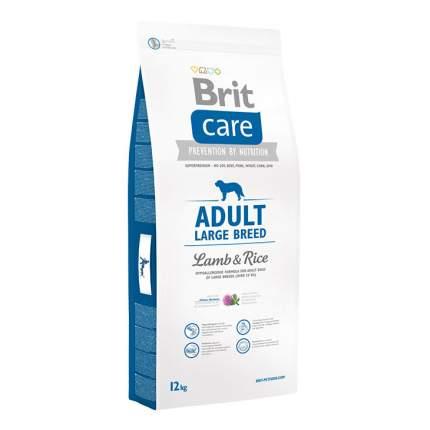 Сухой корм для собак Brit Care Adult Large Breed, для крупных пород, ягненок и рис, 12кг