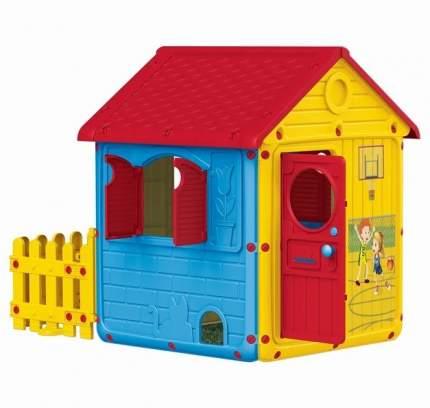 Игровой домик Dolu для улицы с ограждением