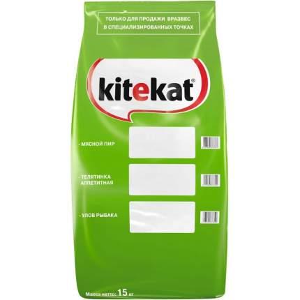 Сухой корм для кошек Kitekat, с аппетитной телятинкой, 15кг