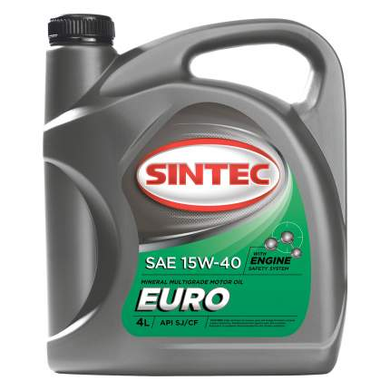 Sintec ЕURO SAE 15W-40 API SJ/CF 4л