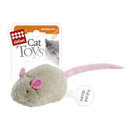 """Мягкая игрушка для кошек GiGwi """"Мышка"""" для кошек с электронным чипом, серый, 6 см"""