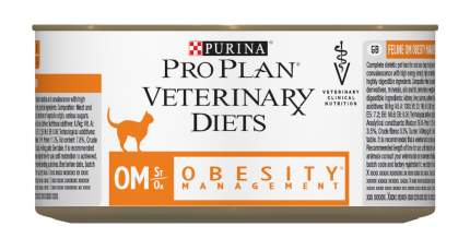 Консервы для кошек Pro Plan Veterinary Diets OM Obesity Management, мясо, 24шт, 195г
