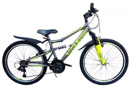 """Велосипед Black Aqua Mount 1223 D matt 20"""" 2018 серо-лимонный GL-109D"""