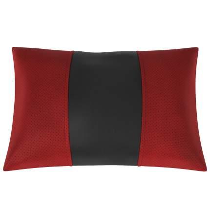 Подушка автомобильная AVTOLIDER1 Экокожа красный-чёрный
